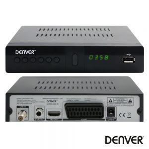 Receptor Satélite 1080p Dvb-S2 C/ USB E Comando DENVER - (DVBS-205HD)