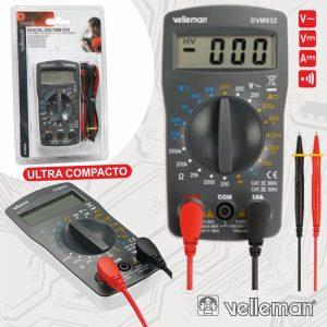 Multímetro Digital 3½ Dígitos 10a VELLEMAN - (DVM832)