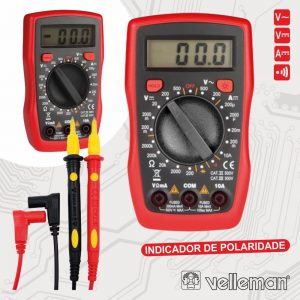 Multímetro Digital 3½ Dígitos Catii500v/Catiii300v VELLEMAN - (DVM841)