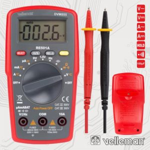 Multímetro Digital 3½ Dígitos Catii500v/Catiii300v VELLEMAN - (DVM855)