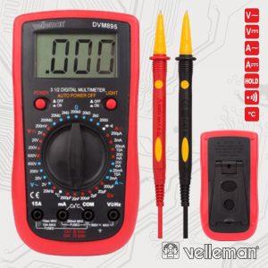 Multímetro Digital 3½ Dígitos Catiii600v/Cativ300v VELLEMAN - (DVM895)