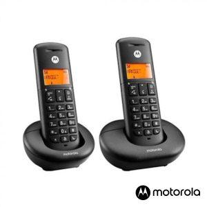 Conjunto 2 Telefones S/ Fios Preto E202BK MOTOROLA - (E202BK)