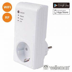 Tomada Elétrica Schuko Inteligente Wifi E Rf VELLEMAN - (E300W-G)