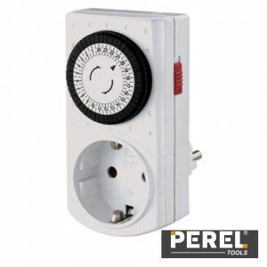 Temporizador Analógico Ajustável 24h Perel - (E305DM-G)