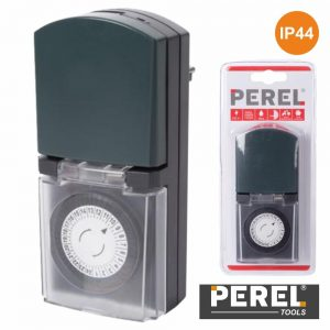 Temporizador Analógico Exterior 24h IP44 Perel - (E305DO2-G)