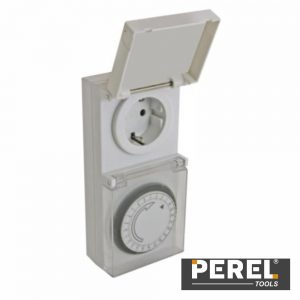 Temporizador Analógico Ajustável 24h Perel - (E305DOG)