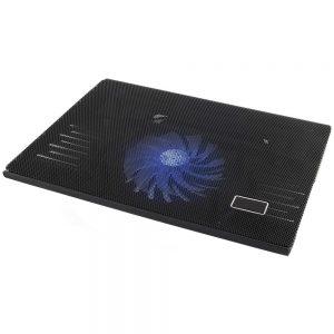 """Base De Refrigeração P/ Portátil Até 15.6"""" USB C/ LED Azul - (EA142)"""