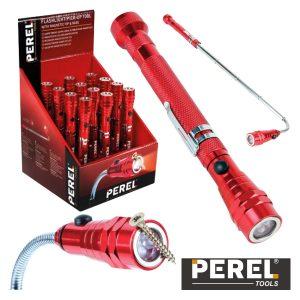Expositor 12 Lanternas Flexíveis Ponta Magnética 3 LED Perel - (EFL20D)