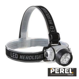 Lanterna De Cabeça 7 LEDS Brancos Ultraluminosos Perel - (EHL12)
