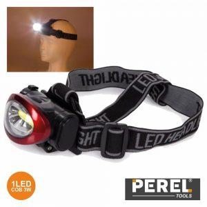 Lanterna De Cabeça 1 LED Cob 3W Perel - (EHL19)