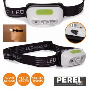 Lanterna De Cabeça 1 LED CREE Xpg E Sensor On/Off Perel - (EHL21)