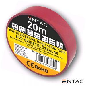 Fita Isoladora Vermelho 20M ENTAC - (EIT-1319-20M-R)