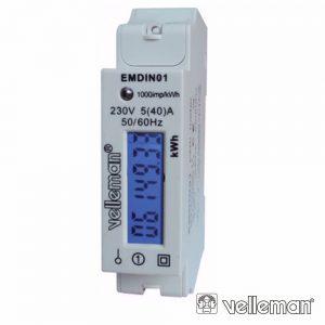 Contador De Energia 230V/16a 1 Módulo P/ Calha Din - (EMDIN01)