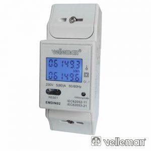 Contador De Energia 230V/16a 2 Módulos P/ Calha Din - (EMDIN02)