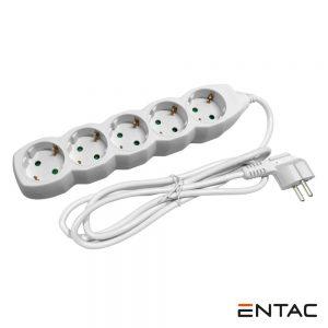 Tomada Elétrica C/ 5 Saídas 1.5m Entac - (ESEG5-1.5)