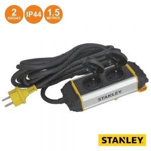 Tomada Elétrica C/ 2 Saídas E Suporte 1.5m IP44 Stanley - (ESTN2BL-G)