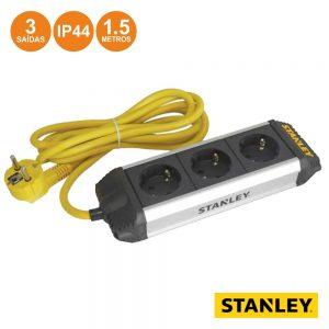Tomada Elétrica C/ 3 Saídas 1.5m IP44 Stanley - (ESTN3-G)