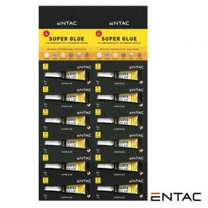 Expositor 12X Tubos Super Cola Adesiva Multiusos 3G ENTAC - (G3G-HUPT)