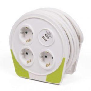 Extensão Tomada Elétrica C/ 3 Saídas E 2 USB-A 10m - (ELECT955)