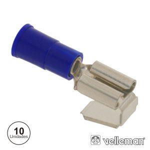 Conjunto De 10 Terminais Azuis 6.35mm - (FBPB)