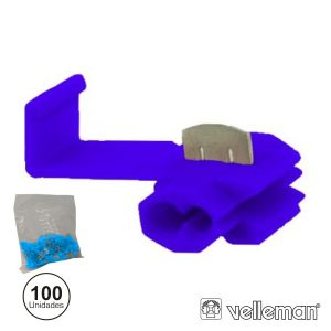 Conjunto De 100 Quick Splice Azuis - (FBQS/100)