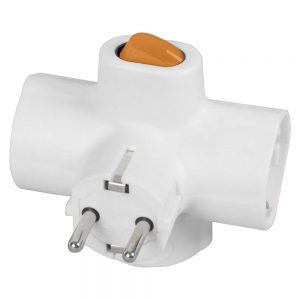 Ficha Elétrica Tripla 3 Schuko Interruptor - (FE3CB/1)