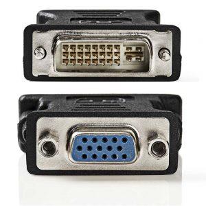 Ficha Adaptadora DVI-I MACHO / VGA Fêmea - (CCGP32900BK)