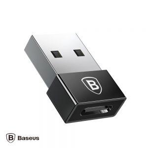 Ficha Adaptadora USB-A 2.0 Macho / USB-C Fêmea BASEUS - (CATJQ-A01)