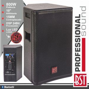 "Coluna Amplificada Pro 10"" 800W 4 Modos BT BST - (FIRST-SA10DSP2)"