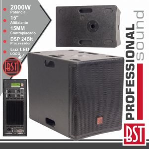 """Grave SubWoofer Amplificado Pro 15"""" 2000W Dsp BST - (FIRST-SA15SDSP2)"""