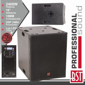 """Grave SubWoofer Amplificado Pro 18"""" 2400W Dsp BST - (FIRST-SA18SDSP2)"""