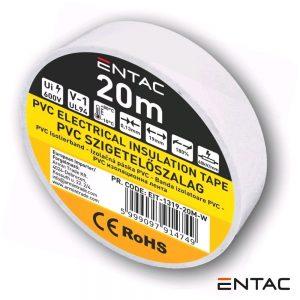 Fita Isoladora Branco 20M ENTAC - (EIT-1319-20M-W)