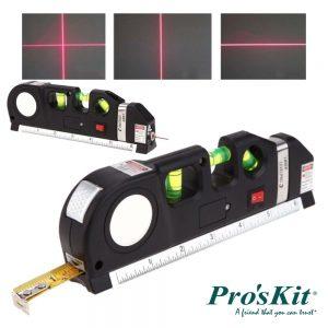 Fita Métrica 2.5m C/ Nível Bolha E Laser Nivelador PROSKIT - (PD-161)