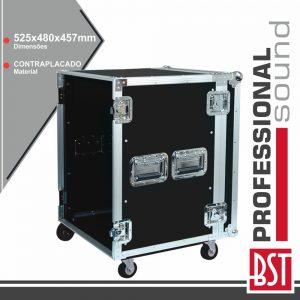 Mala P/ Equipamentos DJ 10u C/ Rodas BST - (FL-10U)