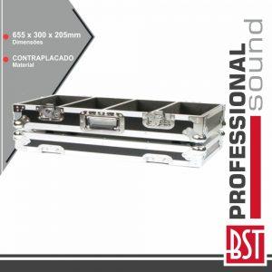 Mala P/ 220 Cd/Dvd Alumínio BST - (FL-220CD)
