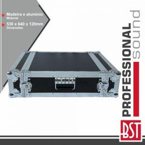 """Mala 19"""" P/ Equipamentos DJ 2u BST - (FL-2U)"""