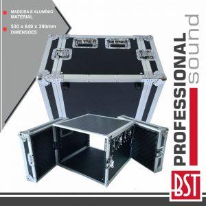 """Mala 19"""" P/ Equipamentos DJ 8u BST - (FL-8U)"""