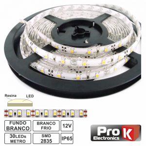 Fita 150 LEDS 2835 Impermeável Branco Frio 12V 5m PROK - (FL41CW)