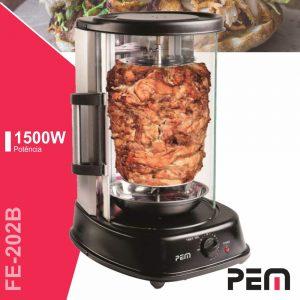 Forno Elétrico P/ Kebab C/ Rotação Automática 1500W PEM - (FE-202B)