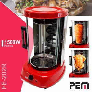 Forno Elétrico P/ Kebab C/ Rotação Automática 1500W PEM - (FE-202R)