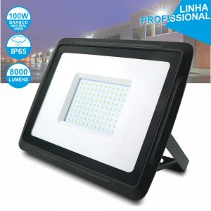 Foco LED 100W 230V Branco Natural 8000lm Preto - (FPLEPROXIM100NW)