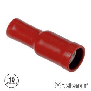 Conjunto De 10 Terminais Fêmea Vermelhos 4.9mm - (FRFB)