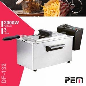Fritadeira A Óleo Elétrica Inox 2000W 3l C/ Filtro PEM - (DF-132)