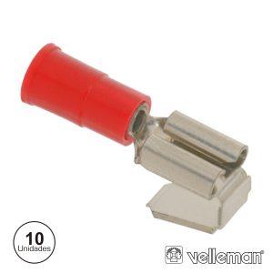 Conjunto De 10 Terminais Vermelhos 6.35mm - (FRPB)