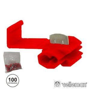 Conjunto De 100 Quick Splice Vermelhos - (FRQS/100)