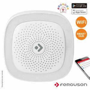 Smart Hub S/ Fios C/ Alarme Luz LED Wifi Zigbee Ferguson - (FS1SH)