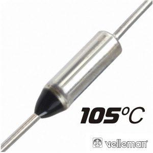 Fusível Térmico 105ºc 250v VELLEMAN - (FT105)