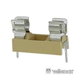 Suporte Fusíveis 5x20mm P/ Ci VELLEMAN - (FUSE/H)