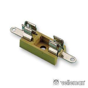 Suporte Fusíveis 5x20mm VELLEMAN - (FUSE/HH)