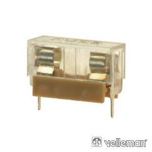 Suporte Fusíveis 5x20mm P/ Ci C/ Proteção Plástica VELLEMAN - (FUSE/HL*)